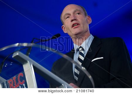 NEW ORLEANS, LA - JUNE 16: Michigan Congressman Thaddeus McCotter addresses the Republican Leadership Conference on June 16, 2011 at the Hilton Riverside New Orleans in New Orleans, LA.