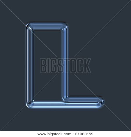 Abstract illustrated glass letter L