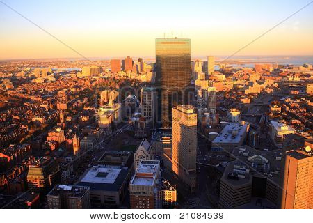 Boston bei Sonnenuntergang
