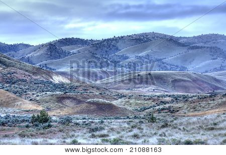 Desert Land Of The Painted Hills.