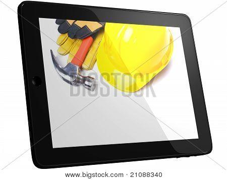 Tools On Tablec Computer Screen