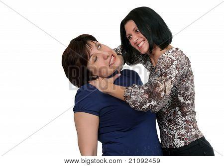 Girl Strangling A Woman