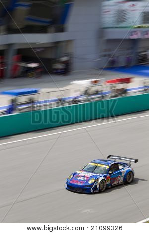 Portrait view of team Samurai at the Malaysian SuperGT race