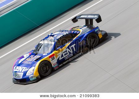 Lexus team Zent at the Malaysian SuperGT race