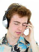 Man Enjoying Music poster