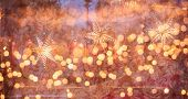 Conceptual image Christmas lights. Background of blurry Christmas lights out of focus. Texture for d poster