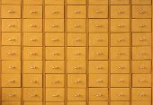 Wooden drawers for archives documents files and folders vintage poster