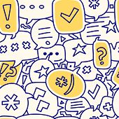 Seamless Chat Bubble Illustration Pattern Or Background poster