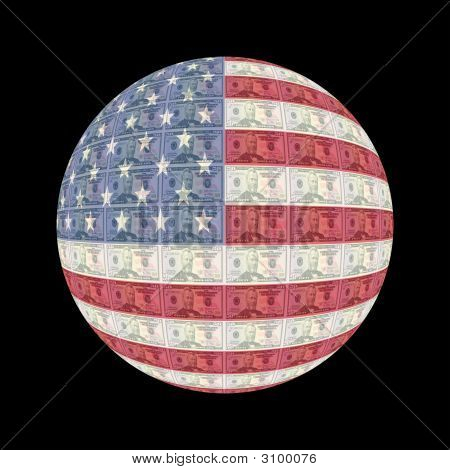 American Flag Currency Button