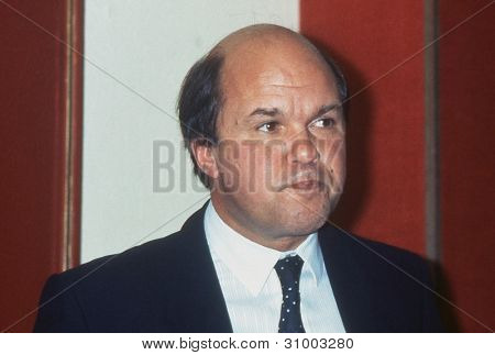 BLACKPOOL, ENGLAND - SEPTEMBER 4: Mark Fisher, Labour party Arts and Media spokesman, speaks at a meeting during the Trades Union Congress on September 4, 1989 in Blackpool, Lancashire, England.
