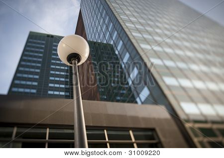 Lamp post in front office buiding