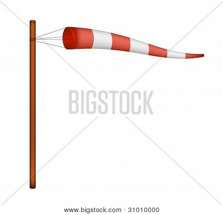 Red and white windsock