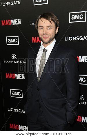 LOS ANGELES, CA - MAR 14: Vincent Kartheiser arrives at AMC's special screening of 'Mad Men' season 5 held at ArcLight Cinemas Cinerama Dome on March 14, 2012 in Los Angeles, California
