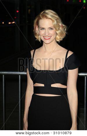 LOS ANGELES, CA - MAR 14: January Jones arrives at AMC's special screening of 'Mad Men' season 5 held at ArcLight Cinemas Cinerama Dome on March 14, 2012 in Los Angeles, California