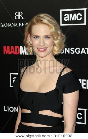 LOS ANGELES, CA - MAR 14: January Jones arrives at AMC's special screening of 'Mad Men' season 5 held at ArcLight Cinemas Cinerama Dome on March 14, 2012 in Los Angeles, California