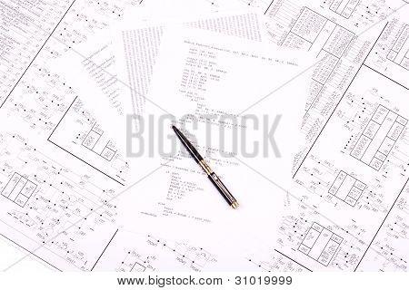 Lápiz sobre papel, con el programa