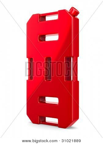 gasoline canister on white background. Isolated 3D image