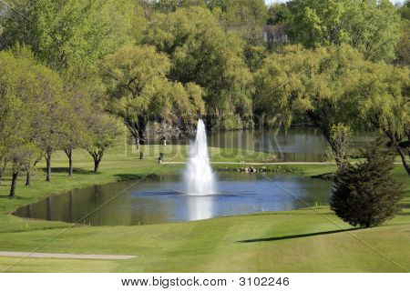 The First Hole Water Hazard
