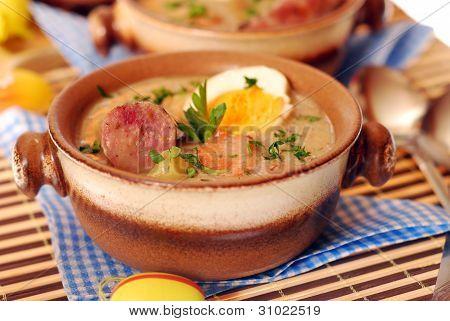 White Borscht For Easter