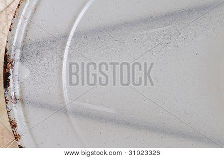 White Painted Metal.