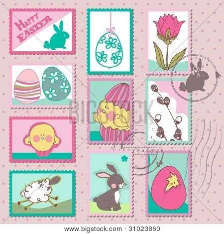 easter postage set