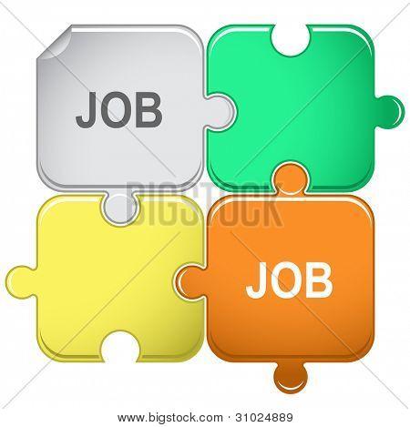 Job. Raster puzzle. Vector version is in portfolio.