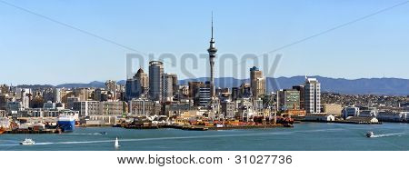 Panorama of Auckland Waterfront & Harbour, New Zealand