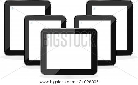 Digital Tablet Pc ipad Set Isolated On White