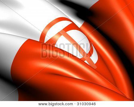 Flag Of Nagano Prefecture, Japan.