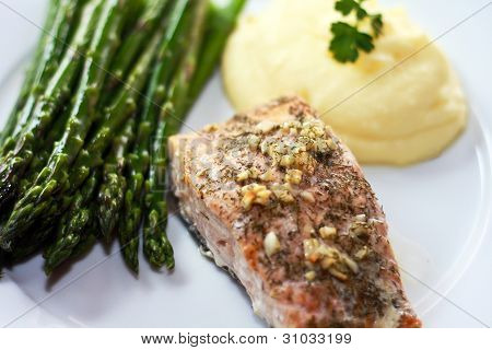 Fish, Asparagus and Potatoes