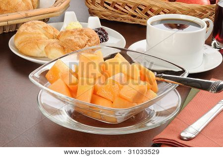 Cantaloupe And Croissants