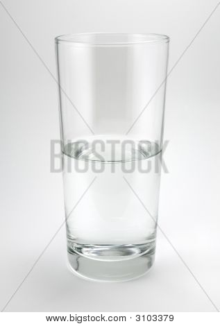 Half Empty Or Half Full Glass Of Water