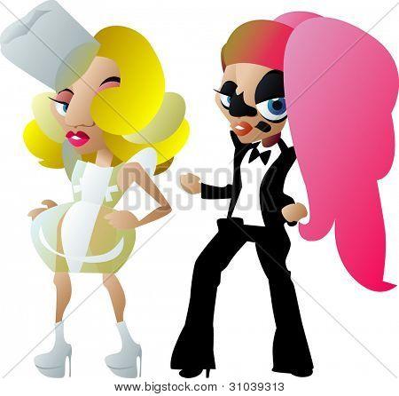 Lady Gaga caricatures