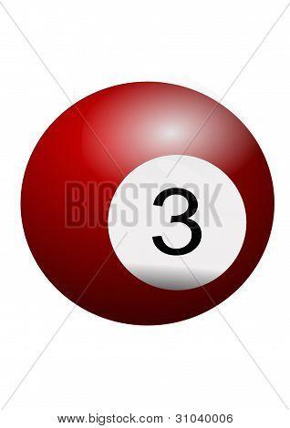 Billiard ball number 3