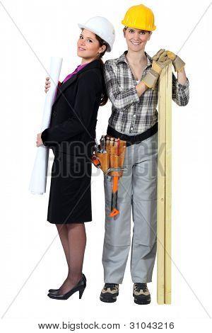 Architect and carpenter