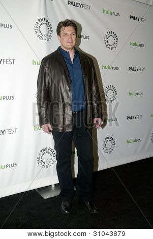 BEVERLY HILLS, CA - MARCH 9: Nathan Fillion arrives at the 2012 Paleyfest