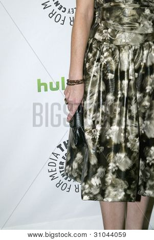 BEVERLY HILLS, CA - MARCH 9: Juliana Dever arrives at the 2012 Paleyfest