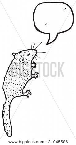 Ilustración del Lirón con el bocadillo de diálogo