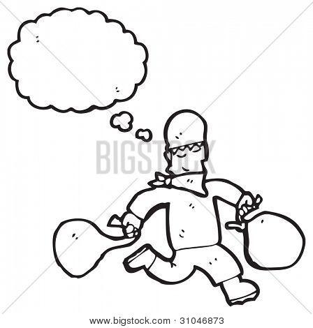 cartoon bank robber