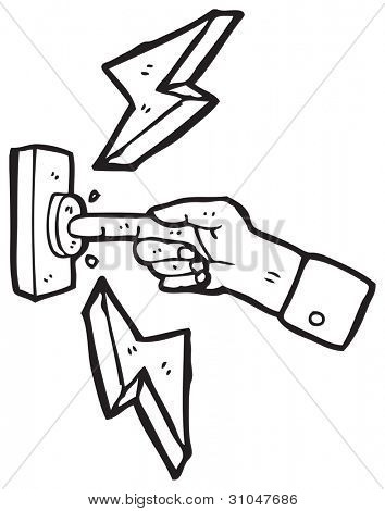 cartoon finger pushing button
