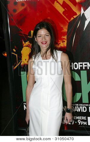 HOLLYWOOD - JANUARY 25: Jill Hennessy arrives at the Los Angeles premiere of HBO's drama series
