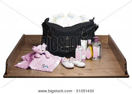Changing Table and Diaper Bag