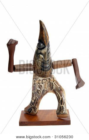 Bone Carved Shaman Figure