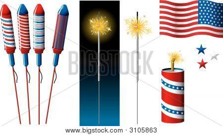 Vektor-Feuerwerk