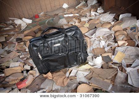 Briefcase Around Trash