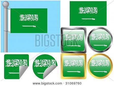 Flag Set Saudi Arabia