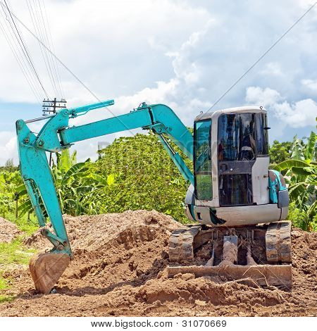 Small Industrial Digger