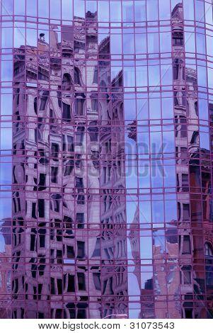 reflective facade