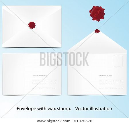 Envelope B6 With Wax Stamp