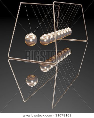 Gold newton balls